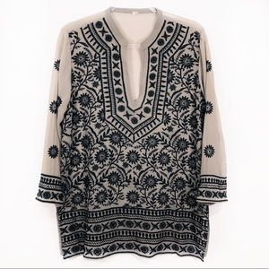 FREE PEOPLE | embroidered boho festival tunic top